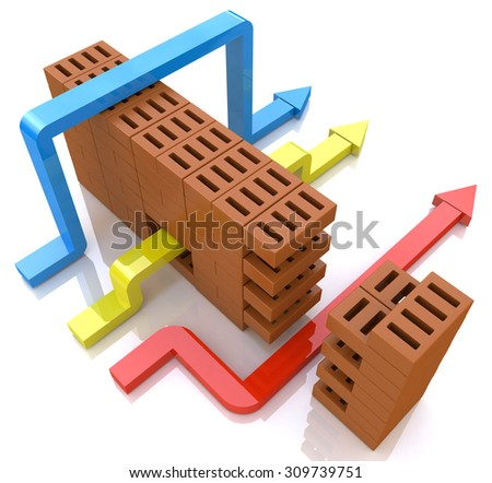 Business overcomes obstacles. conceptual illustration  - stock photo