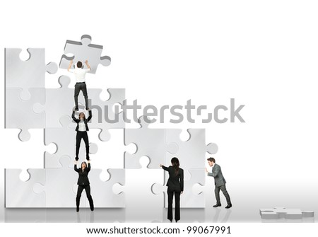 Business partner team work together - stock photo
