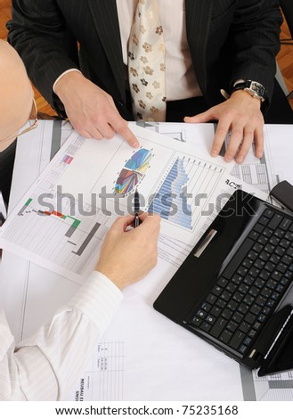 Business Partners for workflow in the office - stock photo