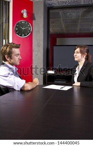 Business partners having a meeting