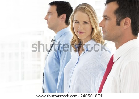 Business partners in a row - stock photo