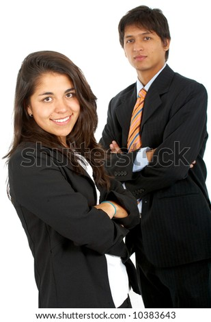 business partners isolated over a white background