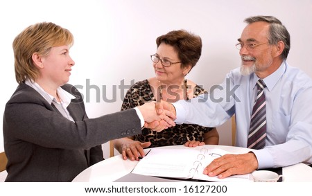 business partners shaking hands  making a agreement