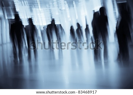 Business people abstract background - stock photo