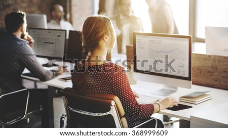 Business People Analysis Thinking Finance Growth Success Concept - stock photo