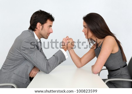 Business people and professional parity - stock photo