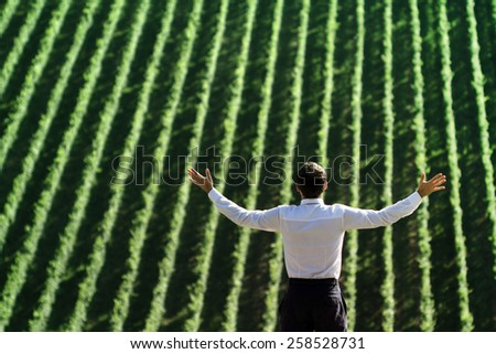 Business people and return to Nature. - stock photo