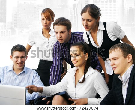 business people are working in office - stock photo