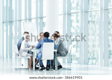 Business people at a meeting in office - stock photo
