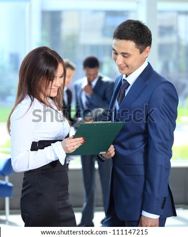 business people at office - stock photo