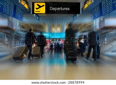 Business People at the Airport - stock photo