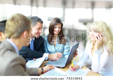 business people at the office as a team - stock photo