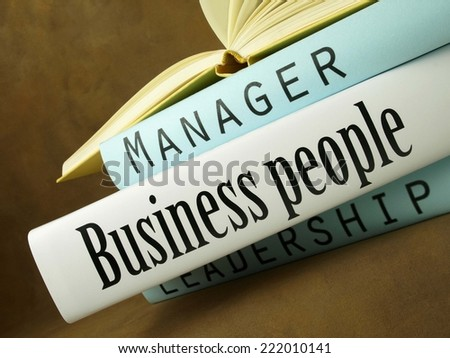Business people (book titles) - stock photo