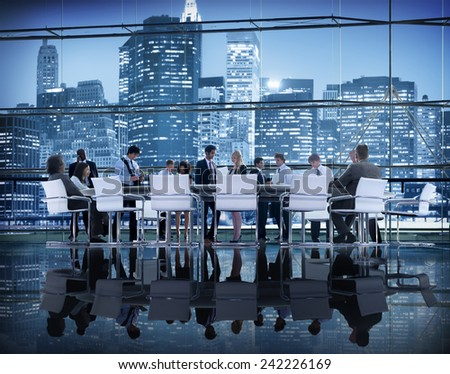 Business People Brainstorming Discussion Planning Meeting Concept - stock photo