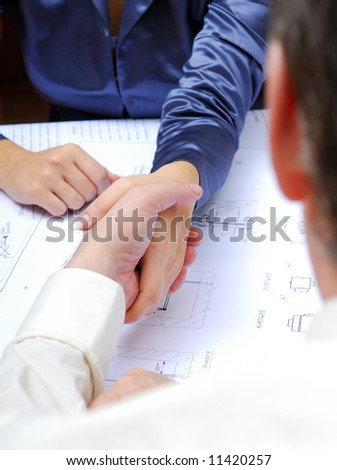 Business people. Business agreement. - stock photo