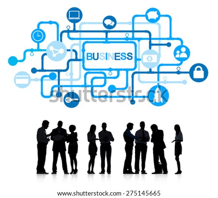 Business People Business Connection Data Concept - stock photo