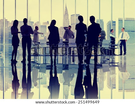 Business People Colleagues Conference Meeting Boardroom Interaction Concept - stock photo