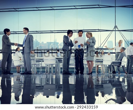 Business People Colleagues Teamwork Meeting Seminar Conference Concept - stock photo