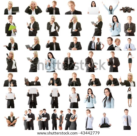 Business people collection - stock photo