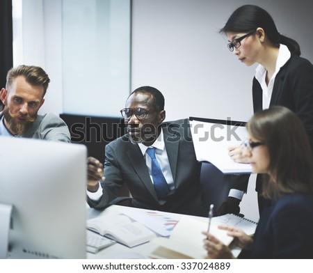 Business People Communication Discussion Planning Working Concept - stock photo
