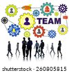 Business People Commuter Connection Gear Corporate Team Concept - stock