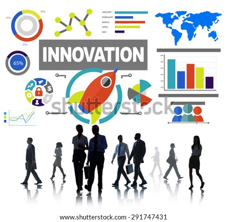 Business People Commuter Creativity Growth Success Innovation Concept - stock photo
