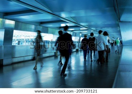 Business people commuting of hong kong - stock photo