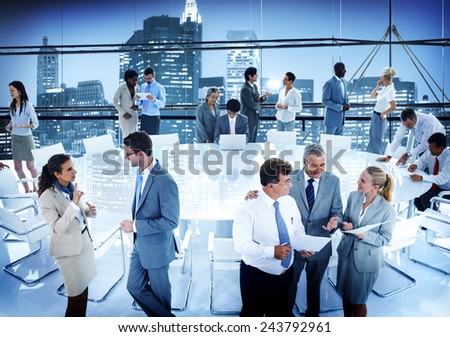 Business People Conference Meeting Boardroom Working Office Concept - stock photo