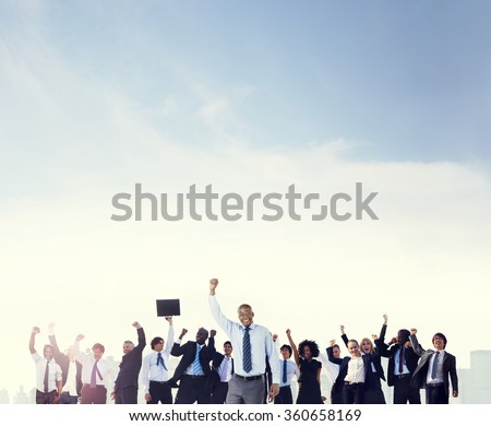 Business People Corporate Celebration Success Concept - stock photo