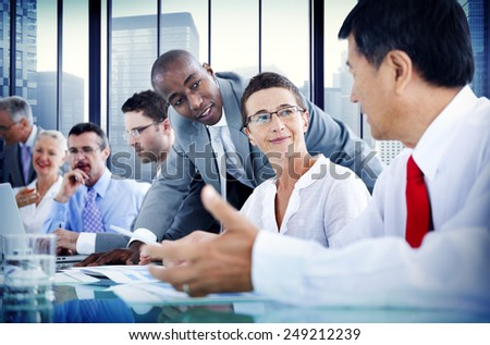 Business People Corporate Communication Meeting Concept - stock photo