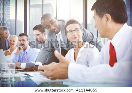 Business People Corporate Communication Meeting Concept