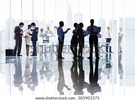 Business People Corporate Discussion Meeting Brainstorming Concept - stock photo