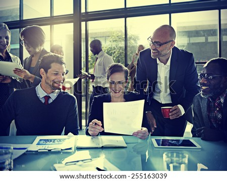 Business People Corporate Meeting Board Room Concept - stock photo