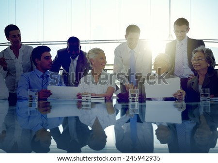 Business People Corporate Meeting Communication Office Concept - stock photo