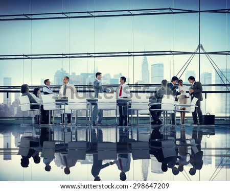 Business People Corporate Meeting Partnership Team Concept - stock photo