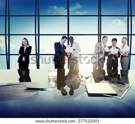 Business People Corporate Team Discussion Office Concept