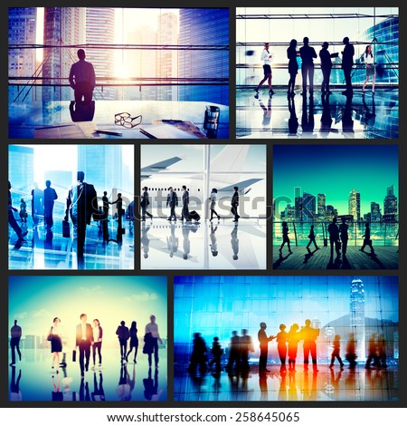 Business People Corporate Travel Collection Concept - stock photo