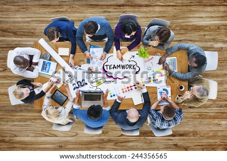 Business People Design Team Brainstorming Meeting Concept - stock photo