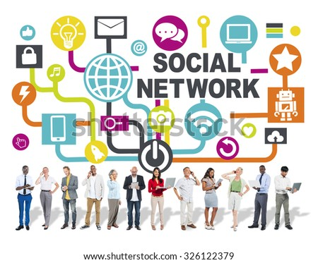 Business People Digital Device Communication Social Network Concept