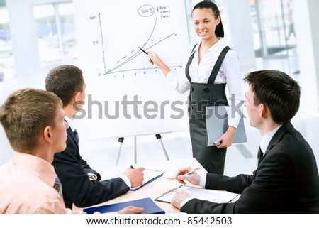 Business people discussing a new project - stock photo