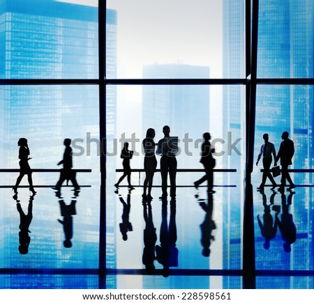 Business People Discussion Corporate Office Concept - stock photo