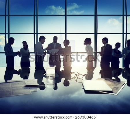 Business People Discussion Ideas Planning Teamwork Concept - stock photo