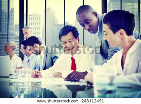 Business People Diversity Team Corporate Communication Concept - stock photo
