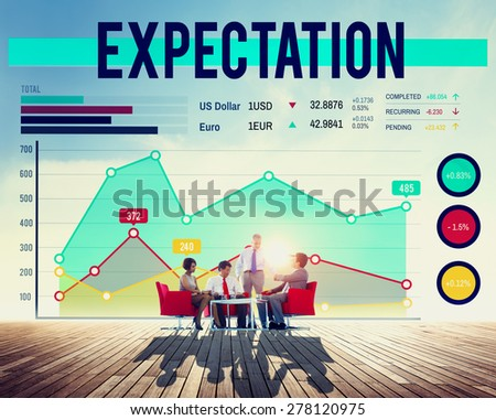 Business People Expectation Graph Concept - stock photo