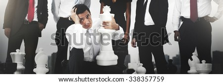 Business People Failure Depression Anxiety Concept