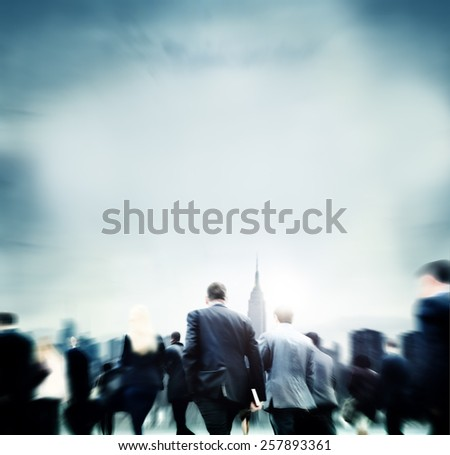 Business People Financial District Commuters Concept - stock photo