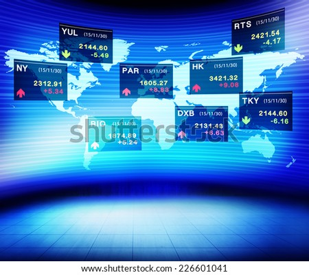 Business People Global Currency Concept - stock photo
