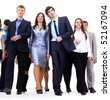business people going isolated on white background - stock photo