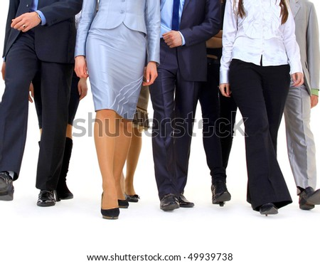 business people going isolated on white background