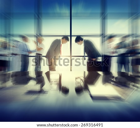 Business People Greeting Global Business Discussion Concept